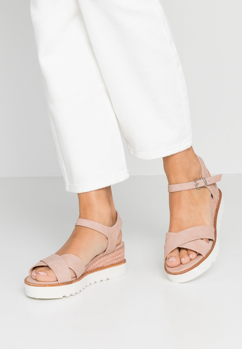 mtng - Platform sandals - nude