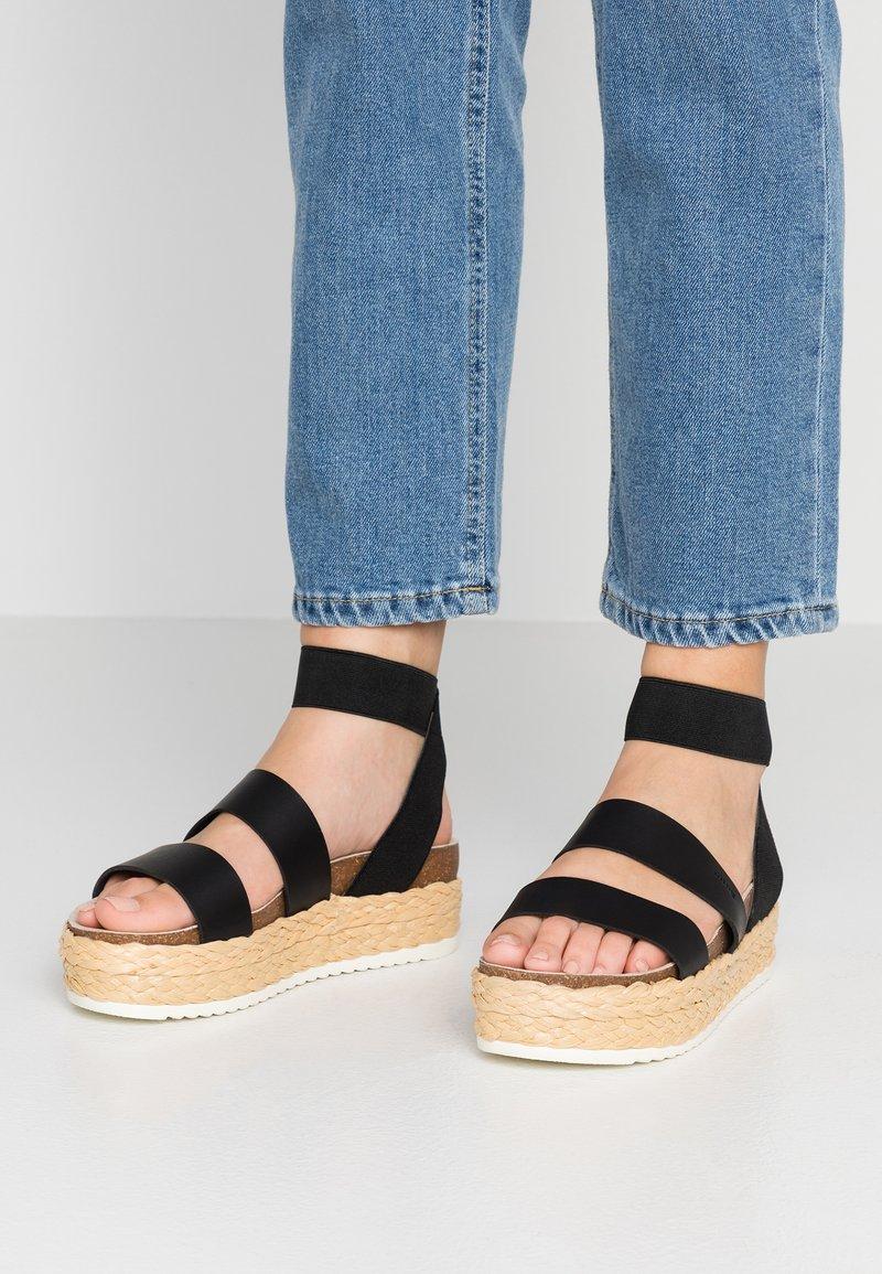 mtng - Korkeakorkoiset sandaalit - black