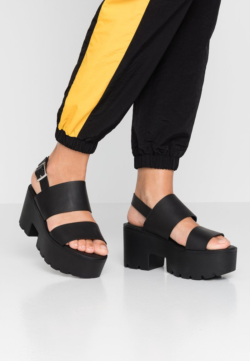 mtng - Platform sandals - black