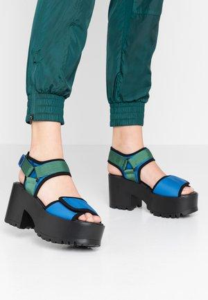 Sandalias de tacón - deep blue/green/black