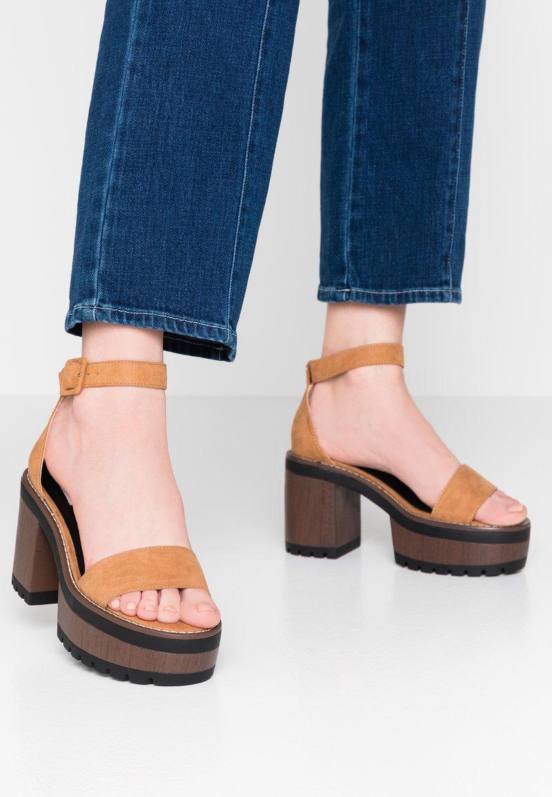mtng - High heeled sandals - tan