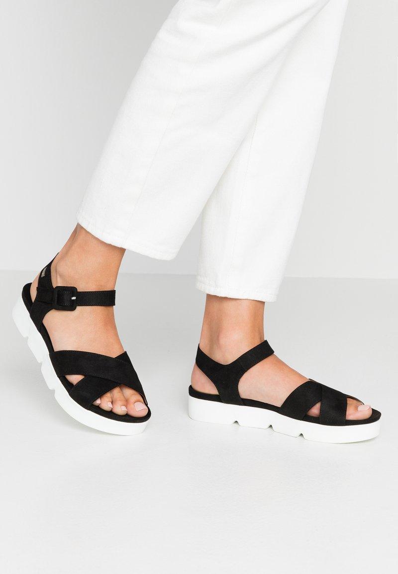 mtng - Platform sandals - antil black
