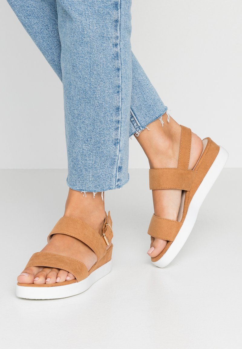 mtng - Wedge sandals - antil tan