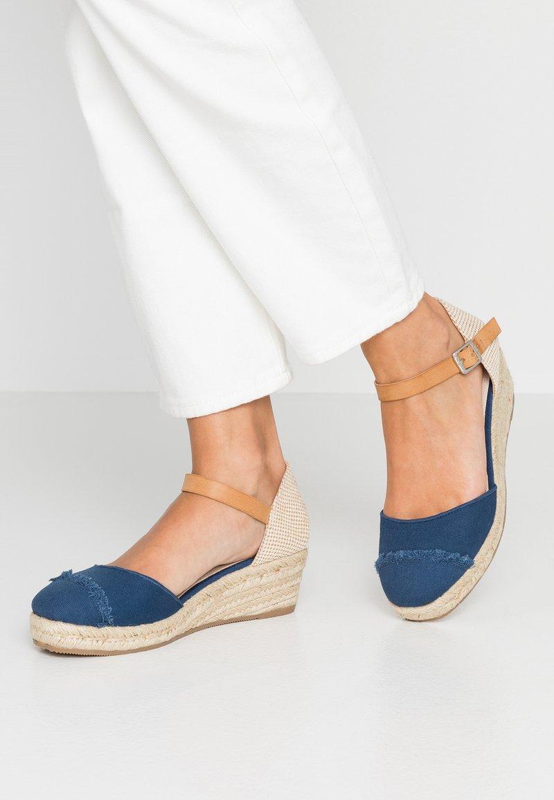 mtng - Platform heels - navy/sand/tan