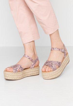 TESSY - Platform sandals - nude