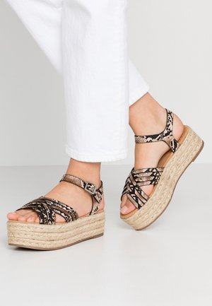 TESSY - Platform sandals - marron