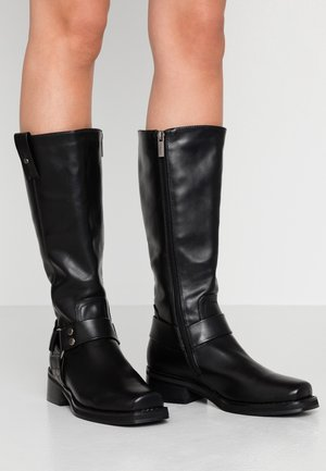 COMBA - Kovbojské/motorkářské boty - black