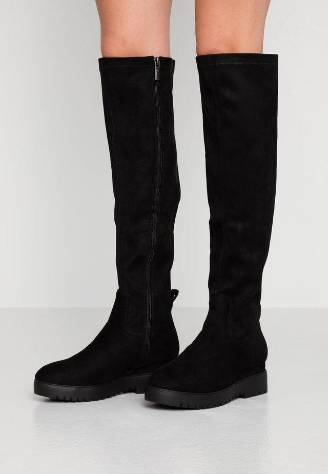 ELDA - Stivali con plateau - black