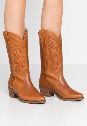 TEO - Cowboy/Biker boots - brown