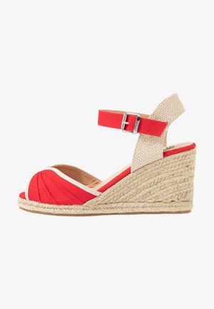 NEW PALMER - Sandály na vysokém podpatku - rojo
