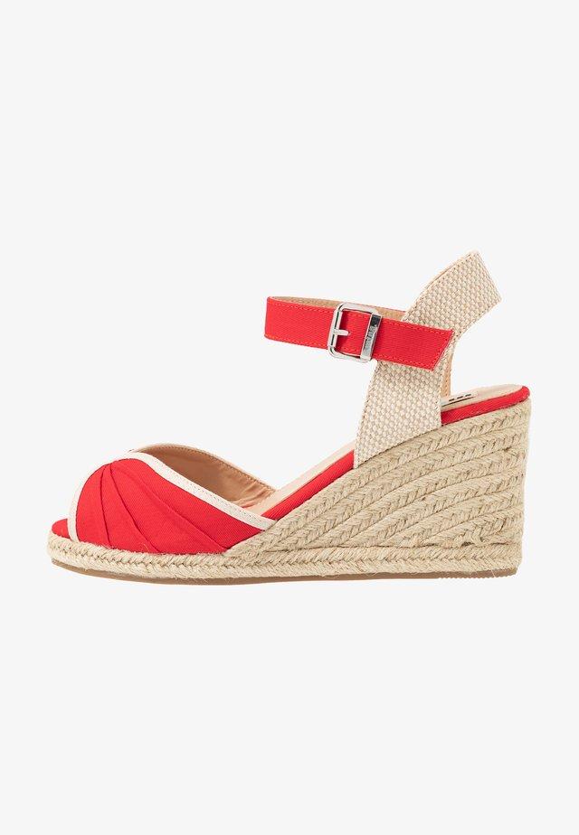 NEW PALMER - Højhælede sandaletter / Højhælede sandaler - rojo