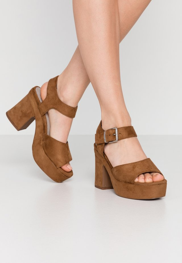 LEIRA - High heeled sandals - tan