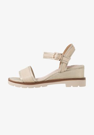 SAMA - Wedge sandals - trone nude