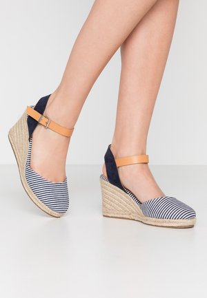 NEW PALMER - Sandalen met hoge hak - marino