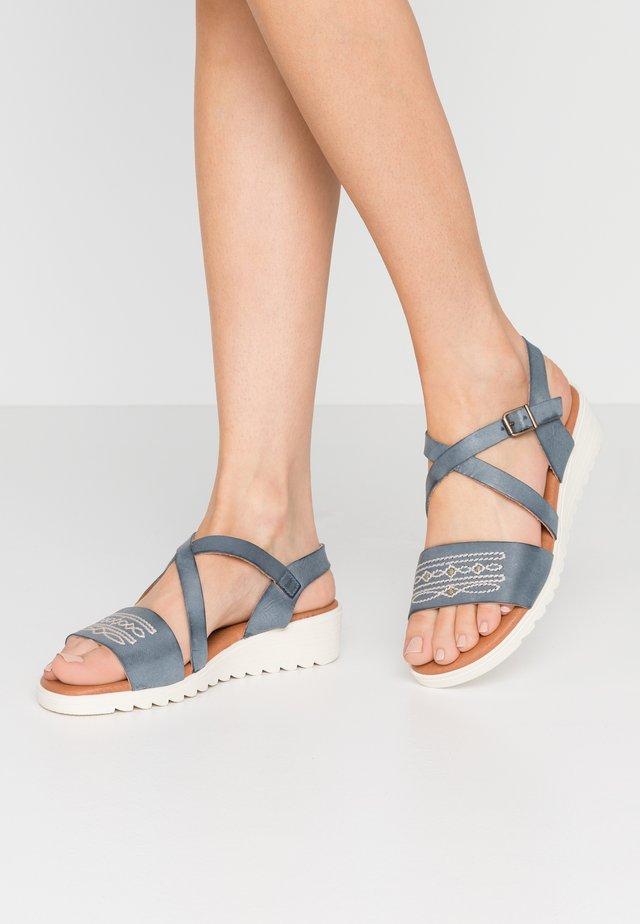 MARINA - Sandaler m/ kilehæl - empolvada azul