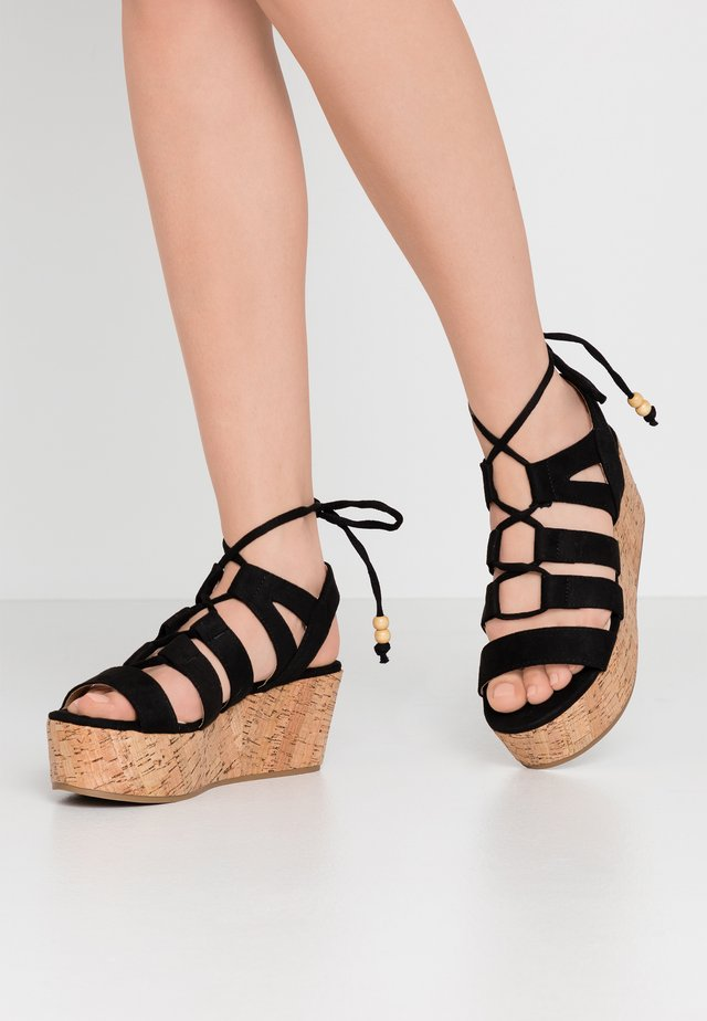 NEW SOCOTRA - Platform sandals - black