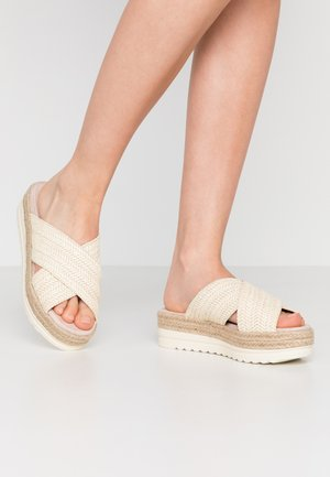 SELLA - Heeled mules - white/blanco