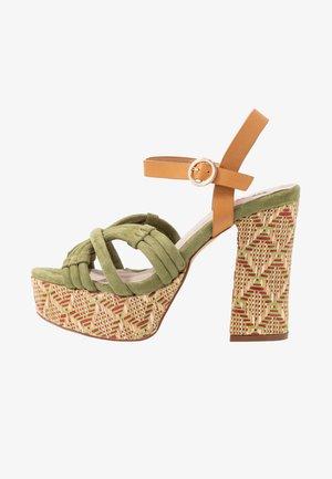 AMAZONAS - High heeled sandals - antil verde/jade