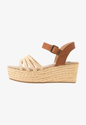 NEW SOCOTRA - Platform sandals - natural