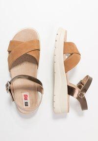 mtng - TOLTECA - Platform sandals - super metallic bornce/matisse camel - 3