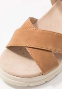 mtng - TOLTECA - Platform sandals - super metallic bornce/matisse camel - 2