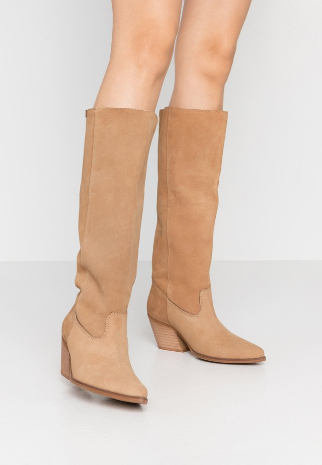 CENTA - Cowboystøvler - beige