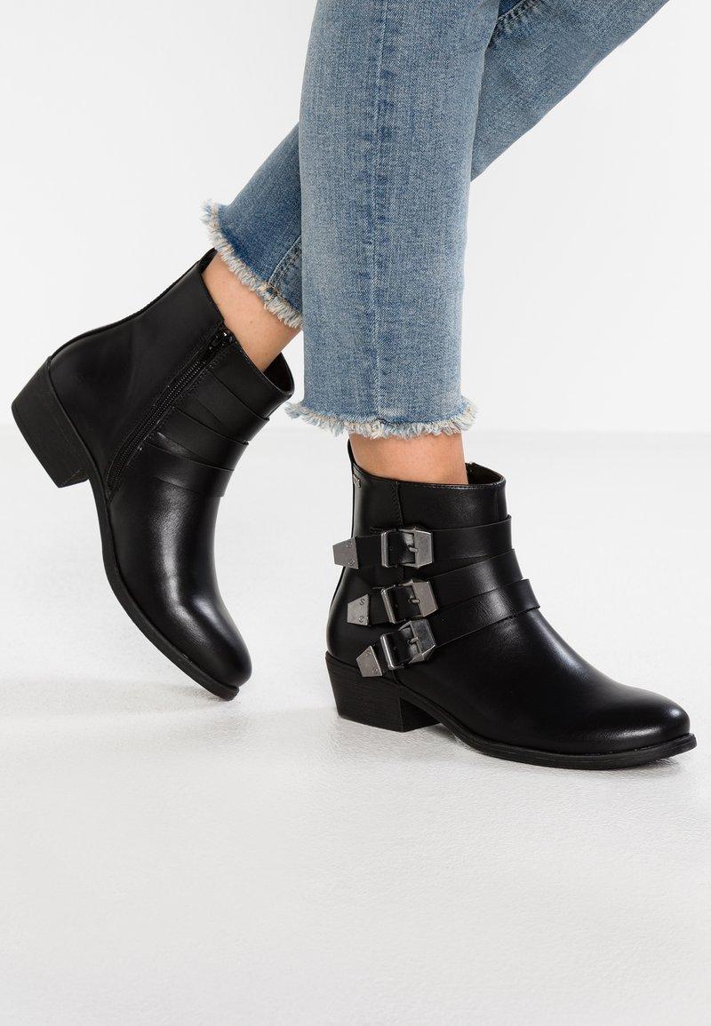 mtng - EVITA - Cowboy- / bikerstøvlette - tango black