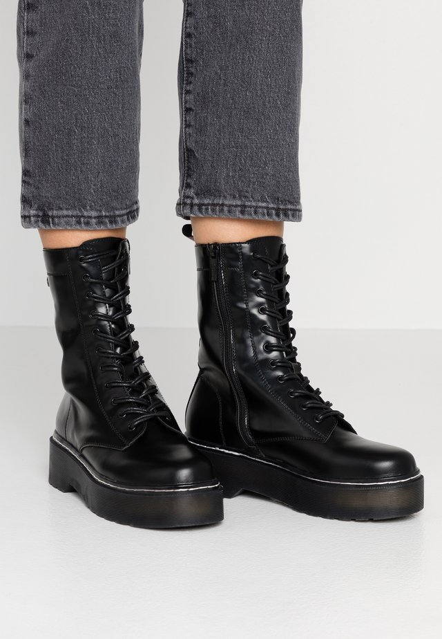 STORM - Platform ankle boots - polly/muliticolor