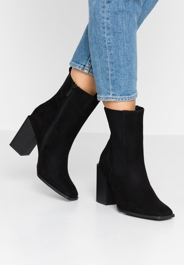 ATOS - High heeled ankle boots - black