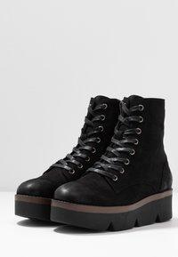 mtng - ARES - Kotníkové boty na platformě - black - 4