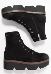 mtng - ARES - Kotníkové boty na platformě - black - 3