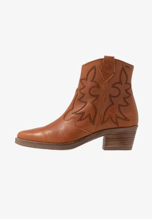TEO - Cowboy/biker ankle boot - brown