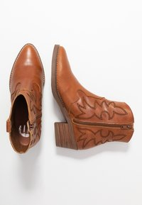 mtng - TEO - Cowboy/biker ankle boot - brown - 3