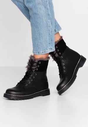 CALM - Šněrovací kotníkové boty - black