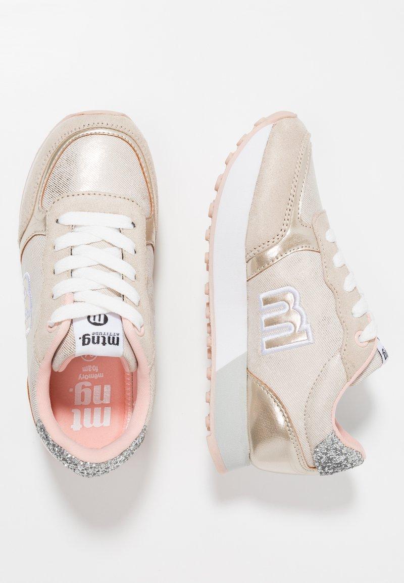 mtng - TOKIO - Sneakers - nuez taupe/rainbow platino//glitter plata/ scarab plata/blanco/tano nude