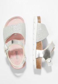mtng - BIANKA - Sandales - brillante plata/lame plata - 0
