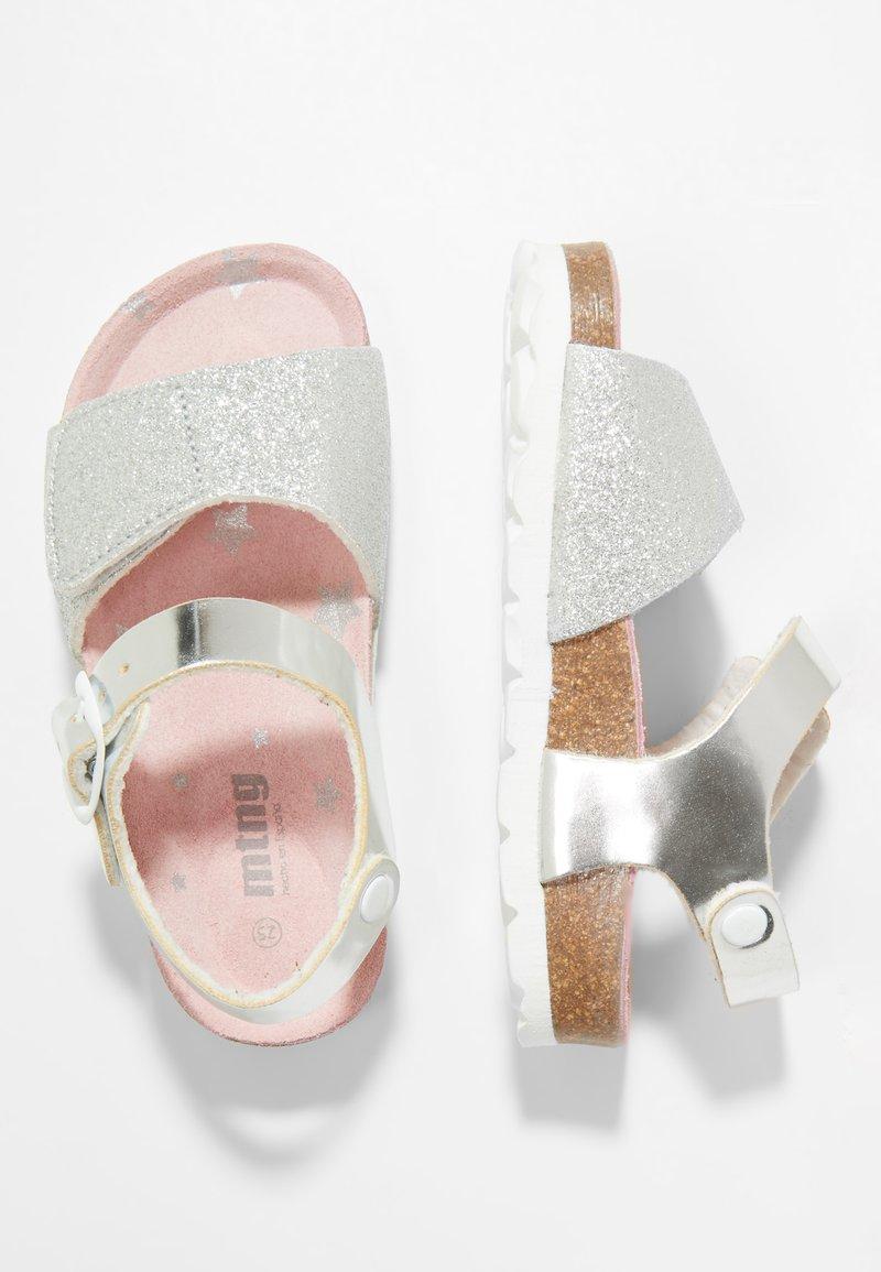 mtng - BIANKA - Sandales - brillante plata/lame plata