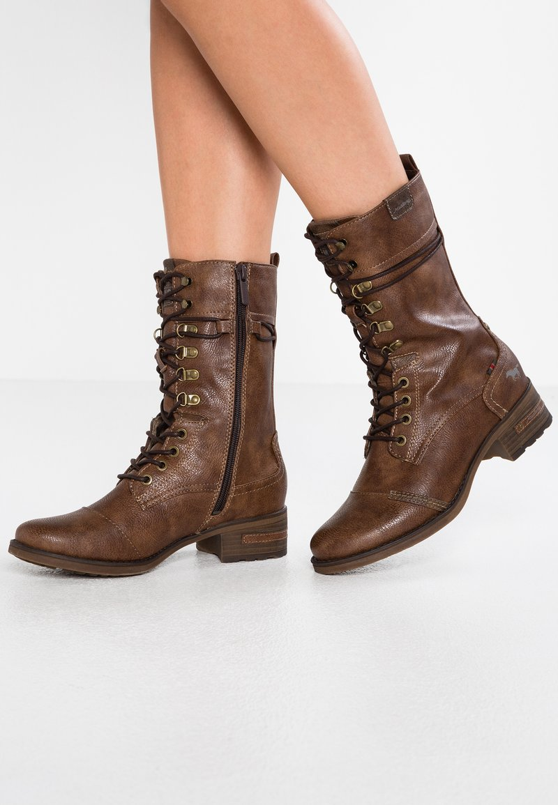 Mustang - Lace-up boots - mittelbraun