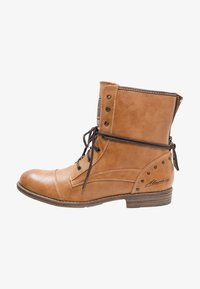 Mustang - Lace-up ankle boots - cognac - 1
