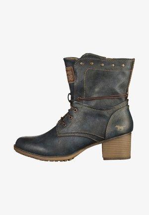Cowboy/biker ankle boot - dark blue