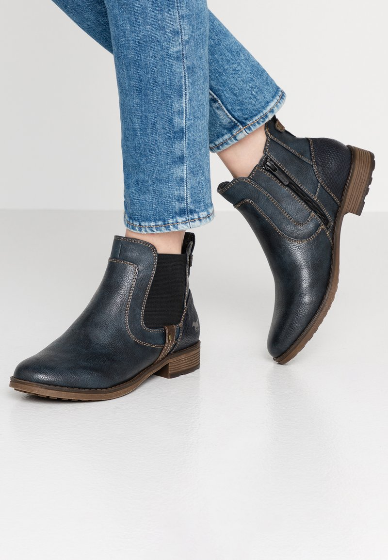 Mustang - Ankle Boot - navy