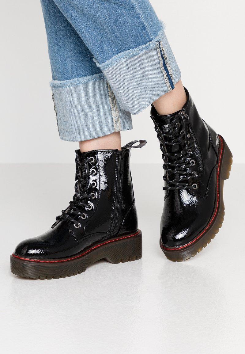 Mustang - Platform ankle boots - schwarz