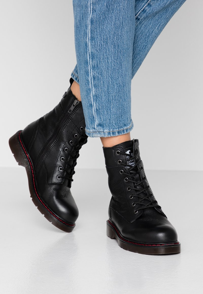 Mustang - Lace-up ankle boots - schwarz