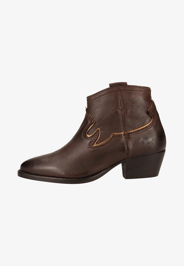 Cowboy-/Bikerstiefelette - dark Brown
