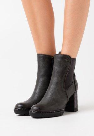 Kotníková obuv na vysokém podpatku - schwarz