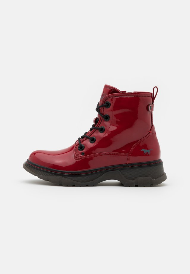 Platform ankle boots - rot