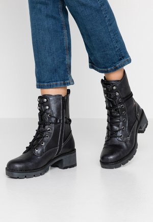 Lace-up ankle boots - navy