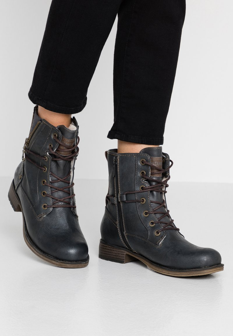 Mustang - Lace-up ankle boots - graphit