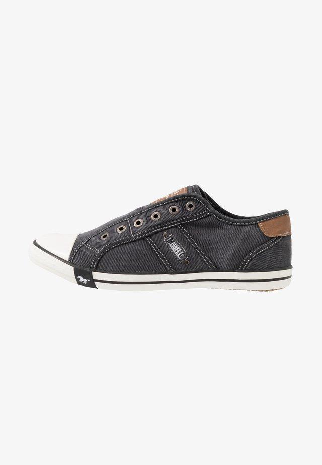 Loafers - schwarz/weiß