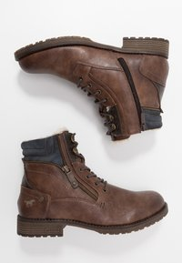 Mustang - Lace-up ankle boots - mittelbraun - 1